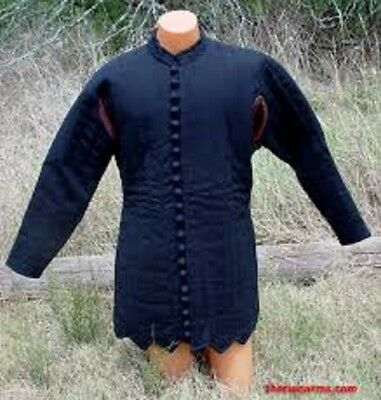 Blue Thick padded Gambeson Halloween Medieval Jacket Armor COSTUMES DRESS