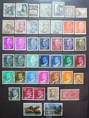 Spain - 40+ Good Used Stamps, Nice Small Collection