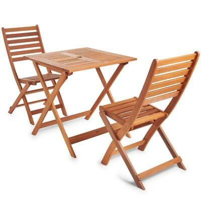 Wooden Table And Chair Set Garden Furniture Easy Folding Portable Hardwearing
