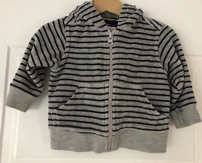 Fred Bare Grey & Black Striped Boys Hoodie Jumper. Size 0. Collect Or Post