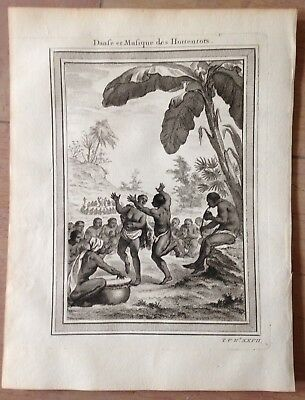 South Africa Hottentots 1750 By Nieuhoff & Bellin Antique Copper Engraved View