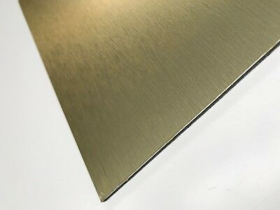 Brushed Gold Composite Sheet (ACM/ACP) - 3mm