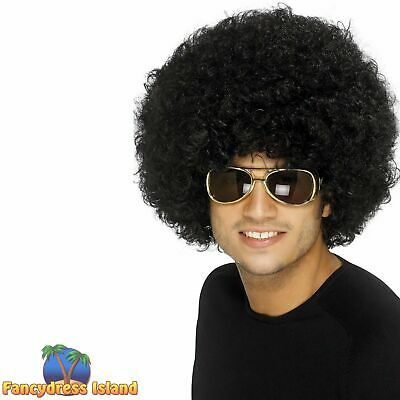 70's 60's Disco Funky Afro Wig Adult Womens Mens Fancy Dress Costume Accessory