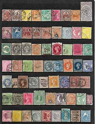 AUSTRALIAN STATES - ALL COLONIES REPRESENTED VALUABLE 63 USED STAMPS No Reserve