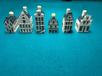 6 assorted KLM Delft House Minis Bottle Dutch Royal Distillery