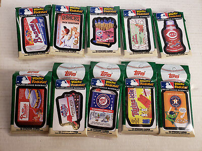 WACKY PACKAGES: MLB RETAIL -LOT OF 10-10 cards per pack!!!