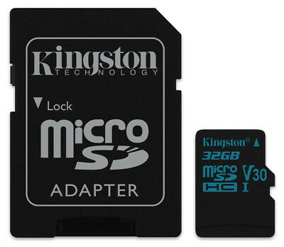32GB Kingston Canvas Go micro SD HC Memory Card U3 V-30 For 4K HD Video 90MB/s