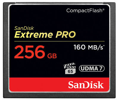 SanDisk 256GB Extreme Pro Compact Flash (CF) Memory Card 160MB/s