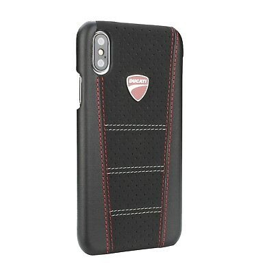 DUCATI SUPERBIKE D1 Leather iPhone X, iPhone Xs Back Case Cover Black