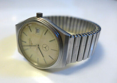 Extremely rare vintage Longines watch custom made for Mercedes-Benz 1.000.000 km