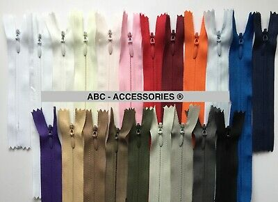 Invisible zip 4'6'8'10'12'14'16'..24'-BUY 3 GET 1 FREE Woven,Close-end,Concealed