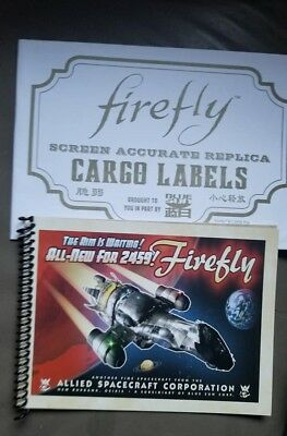 Firefly ship manual and 6 large cargo replica logo stickers