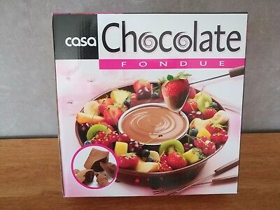 chocolate fondue casa set 4 personnes