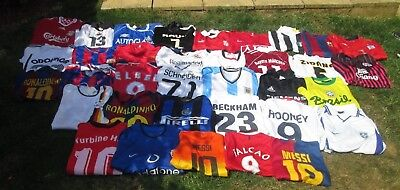 Huge Job Lot Vintage & Modern Official and Unofficial Football Shirts Shorts
