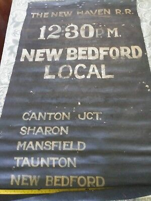 New Haven Railroad roll sign New Bedford Local