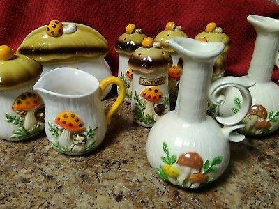 Vintage mushroom kitchen decor shakers and more