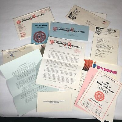 Vintage Society Of American Magicians And Intl Brotherhood Of Magicians Papers
