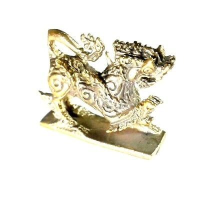 MINI 3D BRASS LION KING MAGIC HOLY TALISMAN CHARM POWERFUL ALWAYS WIN ONLY 17g