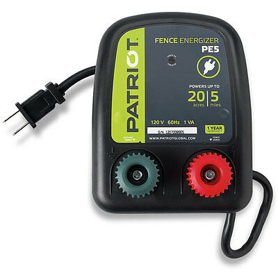 Patriot PE5 Fence Charger/Energizer 5 Mile 110 ac