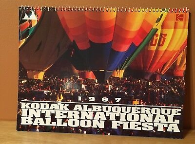 Vintage 1997 Kodak Albuquerque International Balloon Fiesta Calendar