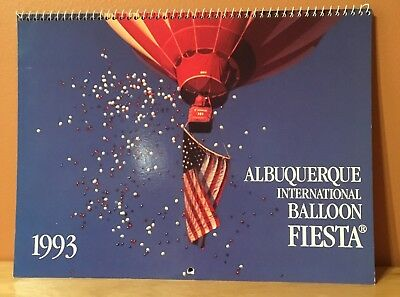 Vintage 1993 Albuquerque International Balloon Fiesta Calendar