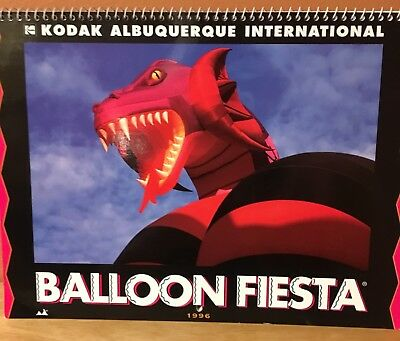 Vintage 1996 Kodak Albuquerque International Balloon Fiesta Calendar