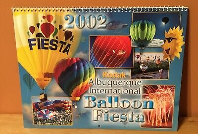 Vintage 2002 Kodak Albuquerque International Balloon Fiesta Calendar