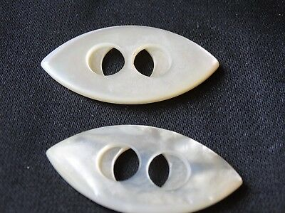 2 Very Unique  Vintage Mother of Pearl Buttons