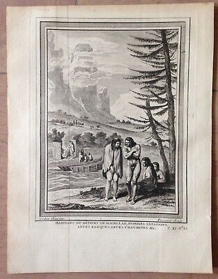 Patagonia 1754 By Nicolas Bellin Nice Antique Copper Engraved View
