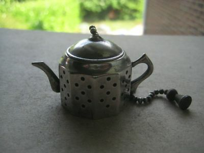 Antique Silver Plated Tea Difuser Kettle,   385WOTMAY18