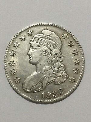 1832 Capped Bust Half Dollar 50 C. Lettered Edge, Lg Date, Lg Letters **NICE**