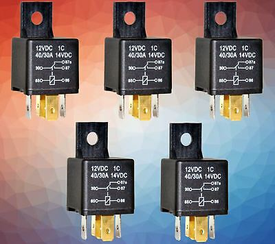 5 x 5 PIN 12 V 30A RELAY SWITCH FOR CARS & BIKES  RELAY5 , RELAY 5