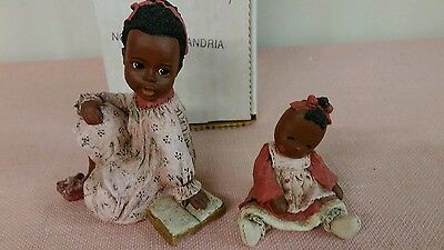 All God's Children Figurine ALEXANDRIA & LINDY With Box