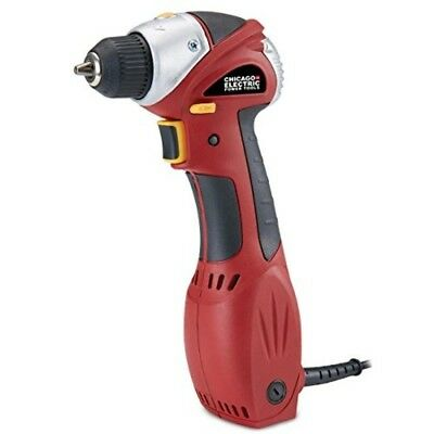 Chicago Electric Power Tools 3/8quot Close Quarters Drill with Keyless Chuck
