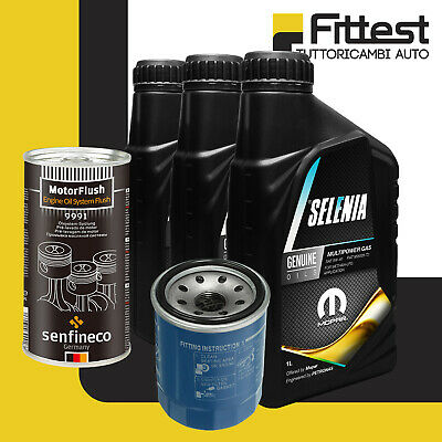 Kit Tagliando Panda Natural Power Metano GPL Punto Filtro olio + Selenia Gas