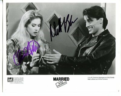 married with children MATT LEBLANC & CHRISTINA APPLEGATE autograph SIGNED 2705