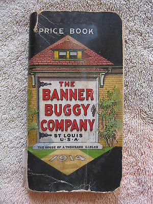 Banner Buggy Company St. Louis Missouri 1914 Vehicle Price Book Catalog