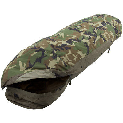 Mil-Tec Modular 3 Layer Sleeping Bag Waterproof Breathable Bivy Cover Woodland