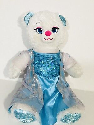 "BABW Build-a-Bear Frozen Elsa Soft Plush Stuffed Animal Doll Toy 17"" Sings"
