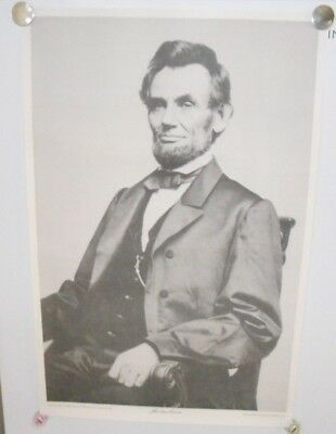 "Abraham Lincoln Poster Photograph by Mathew Brady in 1864 15 1/2"" x 23 1/2"""