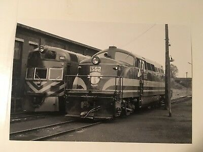 Vintage photo Boston & Maine Railroad BL 2 1552 and car 1140 Dimock