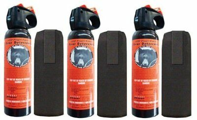 Lot (3) UDAP 30ft 7.9oz Bear Pepper Spray/Repellant/Deterrent w/ Holster - 12VHP