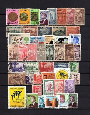 Maroc -  Collection  Of Postally Used Commemorative Stamps  Lot (Mar 31)