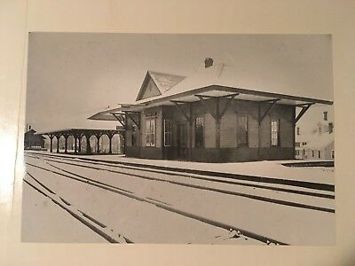 Vintage photo Boston & Maine Railroad train station Ashland NH close up
