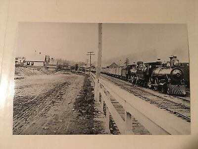 Vintage photo Boston  Maine Railroad loco 391 doubleheaded freight Woodsville NH