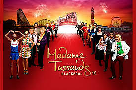 2 Tickets to Madame Tussauds Blackpool Vouchers Sat 1st September 2018 01/09/18