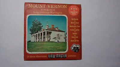 View-Master - Mount Vernon - Home of George Washington - 3D-Bildscheiben - Sawye