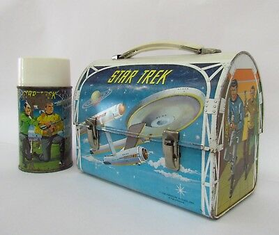 1968 Star Trek Aladdin metal Domed lid Lunchbox with Rare Thermos