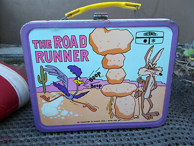 1970 The Road Runner Metal Lunchbox With Thermos