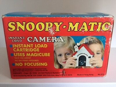 Vintage 1970's Snoopy-Matic Instant Camera With Original Box